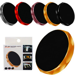mini-handy-halter Rabatt Universal-Stick Magnetic Car Holder Mini-Handy-Auto-flache Einfassungs-Halter-Standplatz für iphone 7 8 x plus samsung android Telefon mit Kasten