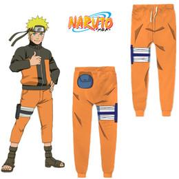 Pantaloni cosplay naruto online-Formato asiatico Giappone Anime Uzumaki Naruto Halloween Casual 3D giallo Cosplay Costume sportivo pantaloni unisex pantaloni larghi