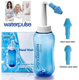 Argentina Waterpulse Neti Pot Nasal Wash Bottle Limpiador de nariz Sistema de irrigación sinusal Neti Pot 300ml 10oz Dispositivo de lavado nasal Nasal Cleanse Nariz Irriga Suministro