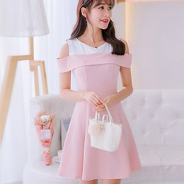 0dfc2409c44c Korean Summer dress women clothing cute slim show thin sleeveless bodycon dress  fashion patchwork Pea green pink dress Vestidos