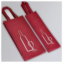 Extremos de tela online-Bolsa de tela no tejida Bolsas de almacenamiento de botellas de vino tinto Caja de compras no tóxica segura Alta gama portátil 1 1md2 BB