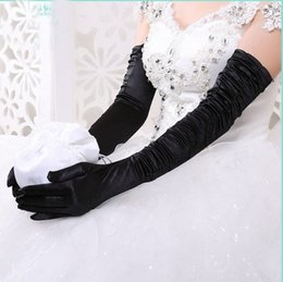 Wholesale White Dancing Gloves - 50cm Women lady dancing performance sexy long black gloves mittens fashion evening party opera gloves wholesale free shipping