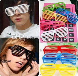 Wholesale plastic party sunglasses - Children Shutter Glasses Full Shutter Glasses Sunglasses Glass fashion shades for Club Party sunglasses woman and man DHL shipping C1190