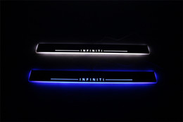 Wholesale Led Door Sill Plates - Waterproof Acrylic Moving LED Welcome Pedal Car Scuff Plate Pedal Door Sill For Infiniti FX35 FX37 FX30 FX50 2009 - 2013