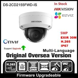 Wholesale Ip Camera Outdoor Wdr - HIKVISION DS-2CD2155FWD-IS Original Multi-Languages IP Camera Support 5MP H.265 P2P ONVIF WDR HIK-Connect Ezviz Outdoor