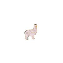 Контактный вязание онлайн-Каваи маленький розовый альпака жесткий эмаль Pin Я ненавижу драма броши булавки вязальщики булавки животных вязание значки ювелирные изделия