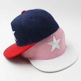 LOVINGSHA Fashion Boy gorras de béisbol Big Star Design 3-8 años de edad  Kid Snapback Caps High Qaulity Cap ajustable para niña CC087 684d0e03411