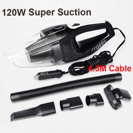 Wholesale Auto Car Vacuum Cleaner - Auto Accessories Portable 120w 12v Car Vacuum Cleaner Handheld Mini Super Suction Wet And Dry Dual Use Vaccum Cleaner For Car