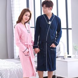 d32b36154f Cotton bathrobes Men Dressing gowns Cotton Robes For Women Nightwear Female  Winter Homewear Sleepwear Nighties