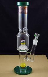 16 ч. онлайн-16 дюймов стекло воды бонг трубы с красочными баррель купол perc mix цвет бесплатная доставка CH-04