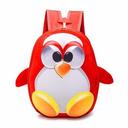 2019 sacchetti di pinguino del fumetto 4 colori scegli 3D cartoon pinguino mochila escolar per zaino scuola bambino e ragazza mochila infantil zaino sconti sacchetti di pinguino del fumetto