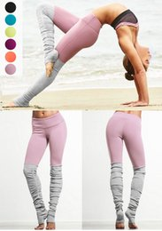 Wholesale female tights - 2018 Women Yoga Sports Pants Elastic Wicking Force Exercise Tights Female Sports Elastic Fitness Running Trousers Slim Leggings