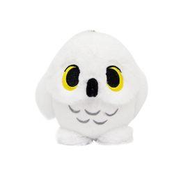 Wholesale Top nuevo CM Q Harry Potter Hedwig Snowy White Owl muñeca de peluche llavero colgante anime regalos rellenos juguetes suaves