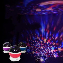 Wholesale nightlight stars - Star Master Dream Rotating Projection Lamp Round Button Type LED Light Up Personality Nightlight Factory Direct 16 5cd B