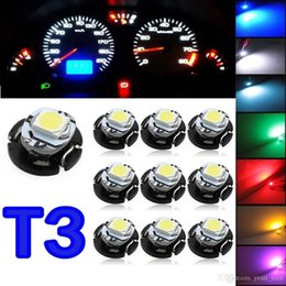 car instrument panel lighting Coupons - free shipping yentl Instruments Panel Light Bulbs Dashboard Indicator Light Blue Green red 10x T3 LED 3528 SMD Car Cluster Gauges Dashboard