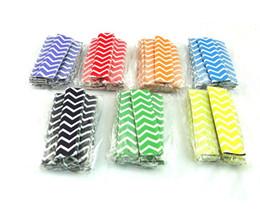 Wholesale pop line - 100pcs lot Wavy line style Popsicle Holders Pop Ice Sleeves Freezer Pop Holders 4x15cm for Kids Summer gift SN181