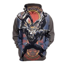 e78e5b90e1 2018 Nueva Pantera Negro 3D Hoodies Hombres Mujeres Streetwear Casual  Spiderman Cospaly Pullover Sudadera Outfit Plus size 5XL