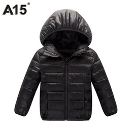 Wholesale Teenage Coats - A15 Children Outerwear Warm Coat 2017 Girl Down Spring Autumn Winter Hooded Toddler Teenage Jackets for Boys Age 3 10 12 14 16 Y