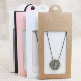 Wholesale Earring Package Card - Lovely pink beige white black kraft gift  candy faovr window hanger box necklace & earring display box wedding card package