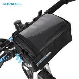 Roswheel Nueva Bicicleta Cuadro Bolsa PVC Mapa Bolsa de tubo superior de bolsillo Pannier Para Bicicleta Estante delantero Bolsas de almacenamiento Montar Ciclismo Manillar desde fabricantes