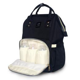 Argentina Nueva bolsa de pañales de bebé de moda momia bolso de pañales de gran capacidad bolsa de viaje de bebé mochila de enfermería / Suministro