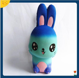 Wholesale wholesale wood home decor - Jumbo Cute Starry Rabbit Squishy Toy Simulation Fruit Squeeze Slow Rising Decompression Toy Home Decor Decompression Toys squishy KKA5041