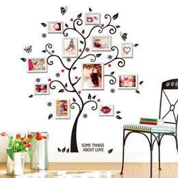 2019 farfalla murale Family Photo Frames Albero Wall Sticker Farfalla Adesivi Soggiorno Camera da letto Murales Arte Stickers murali Carta da parati fai da te per la decorazione domestica farfalla murale economici