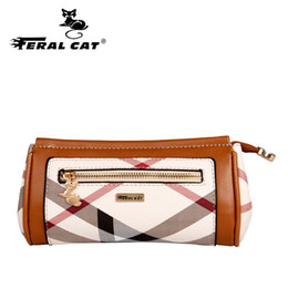 Wholesale Box Color Pattern - Classical Women Yellow PVC Leather Clutch Bag Of Pencil Box Shape For Young Lady With Striped Pattern Female Wallet & Purse F438