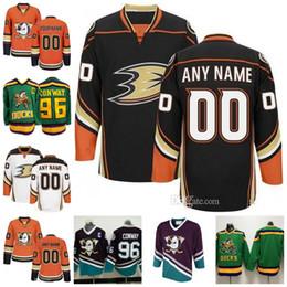 Deutschland Kundenspezifische Anaheim-Enten-Trikots Genähte Mighty Ducks von Anaheim-Hockey-Trikots Angepasst jede Name-Nummer Mens Women Youth Versorgung