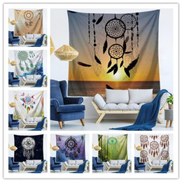 yoga mats designs Promo Codes - 150*130CM wall hanging tapestry 9 design bedroom decoration printing tablecloth yoga mat nice beach towel sofa cover picnic blanket
