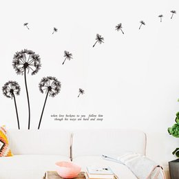Wholesale big beautiful homes - Art New Design Big Size Home Decoration Dandelion Flower Wall Sticker Removable Beautiful Plant Decal In Living Room or Bedroom
