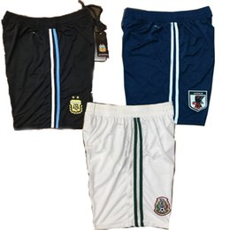Wholesale russia teams - Thai Quality 2018 Russia world cup teams soccer shorts spain argentina mexico 2018 2019 Ronaldo home away football shorts wholesale