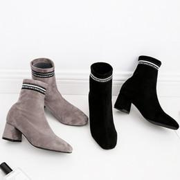 Frauen Schuhe Original Feiyitu 2019 Neue Frauen Socke Stiefel Stretch Stoff Schuhe Slip On Über Das Knie Stiefel Frauen Pumpen Stiletto Stiefel Für Frauen 35-40