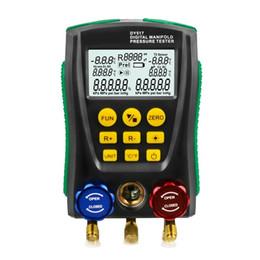 Testador de pressão de ferramentas on-line-Ferramenta de diagnóstico do carro Refrigerantion Digital Manômetro Medidor HVAC Testador De Teste de Vazamento de Temperatura de Vácuo Teste de Vazamento testador de carro