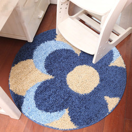High Quality Flower Printing 90CM Bath Mat Floor Carpet Rug,Anti-Slip Chair Carpet Bath Mat Toilet Rug,Large Bathroom Rug,tapete Round Mats cheap large round rugs от Поставщики большие круглые коврики
