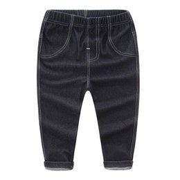 20cf3d457ba Boys Girls Pants Jeans Fashion Kids Jeans for Spring Fall Children s Denim  Trousers Kids Blue Black for 2-6Y Kids Designed Pants
