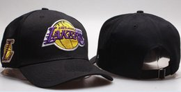Wholesale pink characters - 2018 hot sale snapback hats Lakers Adjustable Fashion Hat Snapback Cap Men Women Basketball Hip Pop Baseball caps high quality