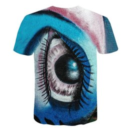 cool pattern shirts men Coupons - Fashion Men Women 3D T Shirt Eye HD Pattern Printed Short Sleeve Shirt Cool Graphics Tees Casual T-shirt Tops Dropship