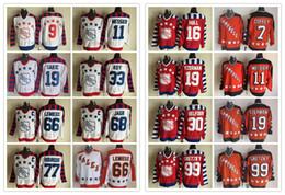 Maglia di lemieux ccm online-CCM I più nuovi uomini hanno cucito la stella # 11 MESSIER / # 16 SCAFO / # 19 SAKIC / # 30 MELFOUR / # 33 ROY / # 66 LEMIEUX Maglie di hockey su ghiaccio White Red Orange CCM