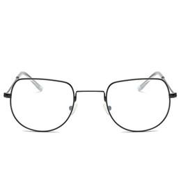 2019 große rahmenbrillen Cat Eye Brillen Optische Einfachen Männer Mode PC Metall vintage Brille Große Rahmen Klare Linse brillen günstig große rahmenbrillen