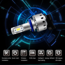 Wholesale H11 12v - 360 degree H4 H7 H11 H1 H13 H3 9004 9005 9006 9007 9012 COB LED Car Headlight Bulb Hi-Lo Beam 96W 9600lm 6000K Auto Headlamp 12v 24v