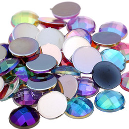 Wholesale high shine rhinestones - Mixed colors Nail Rhinestones Acrylic Flatback Round Earth Facets AB colors Acrylic Rhinestone Strass High Shine Beads