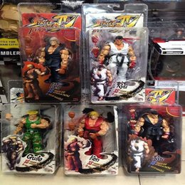 """Wholesale Toy Ken - 1pcs 5 Styles 7 """"18cm Street Fighter Iv Survival Model Ken Ryu Guile Action Figure Toy Free Shipping"""