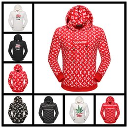 Wholesale Camo Hoodie Sweatshirt - 2017 Europe American High Quality Red Camo camouflage Green Hoody Box Logo Fashion Men Women Casual Sweatshirt Streetwear Hooded Hoodie