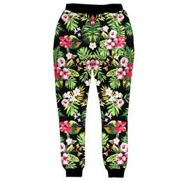 2019 corredores da cópia da flor Moda novo estilo para homens Basculador Calças Flores 3D Floral Print Sweatpants Hip Hop Calças S-XL corredores da cópia da flor barato