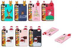 weihnachten iphone santa Rabatt TPU-Karikatur-nette frohe Weihnacht-Geschenk-Weihnachtsmann-Muster-Telefon-Rückseiten-Abdeckungs-Fall für iphone XS NAX XR X 5G 6G 7G 8G PLUS Samsung S8 S9 PLUS