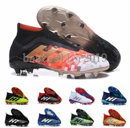 5b5e69761 2018 Predator 18 FG PP Paul Pogba Soccer Cleats Slip-On Chaussures De  Football Boots Mens Crampons Predator 18+ High Top Soccer Shoes 39-45