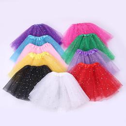 2019 glitzer kostüme 11 Farben Mädchen Glitter Ballett Dancewear Tutu Rock Mädchen Bling Tüll Tutu Röcke Prinzessin Dressup Röcke Kostüm T2I364 rabatt glitzer kostüme