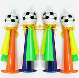 Wholesale Party Supply Kits - World Cup Cheering Horn FIFA Noise Maker Fan Horns Loud Speaker Bar Party Supplies Three sound horn Toys Football Match 2018 DHL