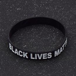 2019 живые группы fashion lychee Black Lives Matter Silicone Wrist Band Bracelet Cuff Wristband racelet Unisex Jewelry дешево живые группы